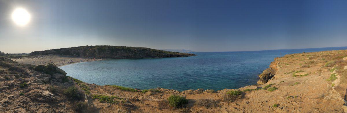 Tre punkteringar i Spiaggia Calamosche…